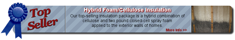 Information on our top selling hybrid foam and cellulose insulation